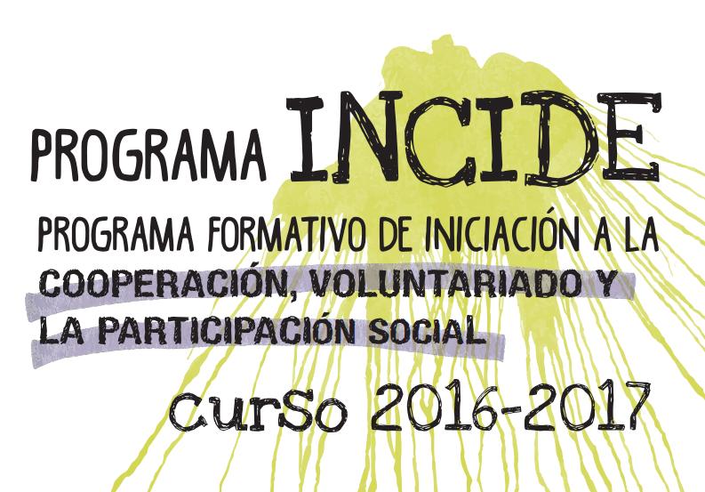 Programa formativo 2016-2017 de iniciación al voluntariado y participación social de la UPV