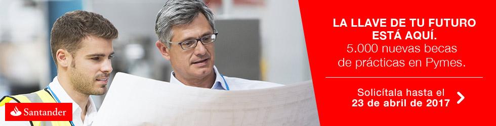 Nueva convocatoria 2016-2017 de las Becas Santander CRUE CEPYME Prácticas en Empresa