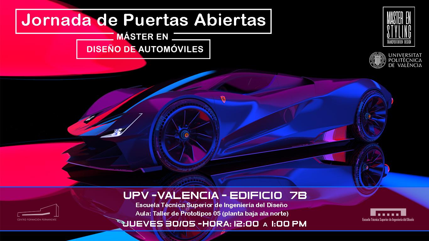 Jornada de puertas abierta del Máster en Styling y Diseño de Concepto del Automóvil